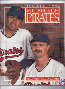 1992 Pittsburgh Pirates program