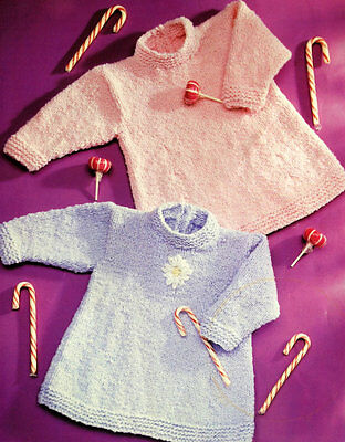 girls - baby tunic knitting pattern 99p