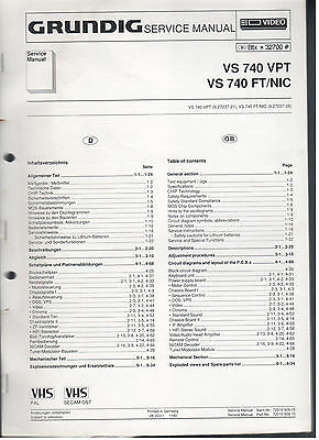 Offen Service Manual Grundig Videorecorder Vs740vpt Vs740ft/nic Top Weniger Teuer Tv, Video & Audio