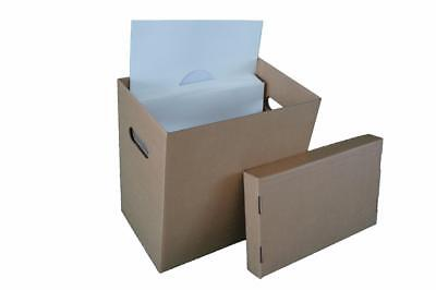 "Storage & Media Accessories 3 X 12"" Vinyl Record Storage Box Lp's Or 12"" Singles To Win A High Admiration And Is Widely Trusted At Home And Abroad."
