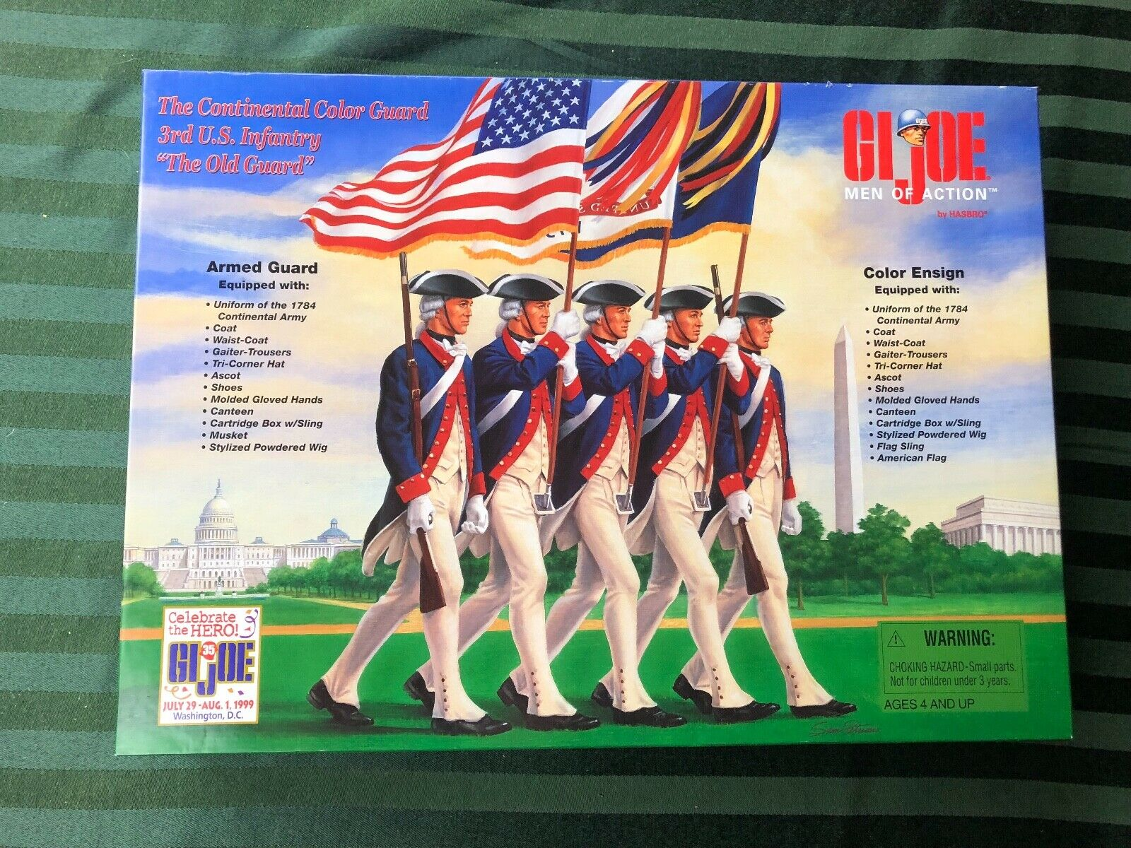 GI  Joe 1999 Convention Exclusive  The Continental Couleur Guard  3rd US Infantry  édition limitée