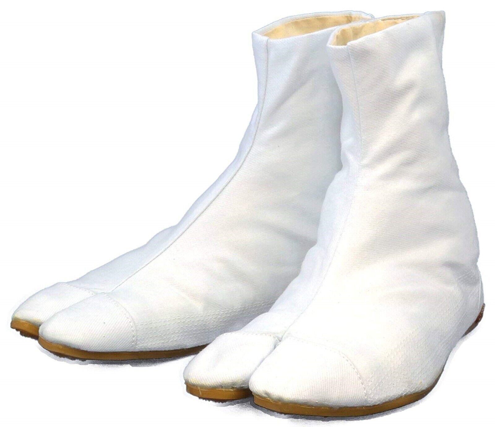Japanisch Rikio Jika Tabi Stiefel Ninja Low Cut Weiß 22.5cm (US 4.5) -30cm