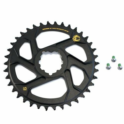 SRAM X-Sync 2 Eagle XX1 X01 Direct Mount 38T Chainring 6mm Offset 12 Speed, gold