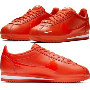 san francisco 19e6d 9e9c6 Image is loading Nike-Classic-Cortez-Premium-Team-Orange-Women-039-