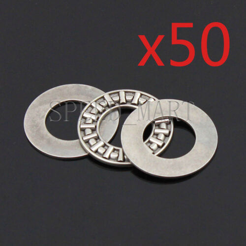 50 PCS NTA815 1//2/'/' Thrust Needle Roller Bearing With Two Washers 12.7 x 23.8