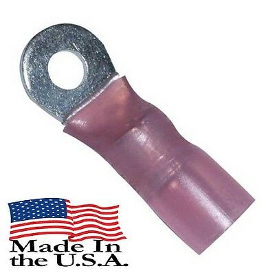 """8 AWG 3M HEAT SHRINK RING TERMINALS 5//16/"""" STUD SIZE ELECTRICAL Qty-10"""