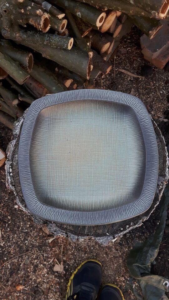 Keramik, Fad, grønligt/rillet