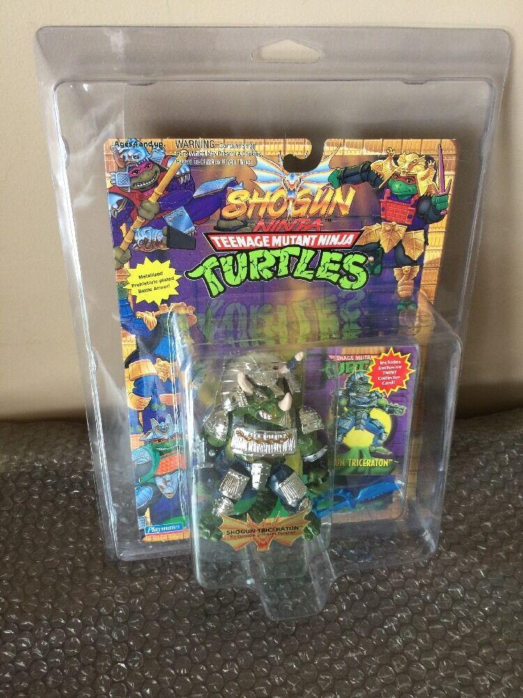Vintage Playmates TMNT Teenage Mutant Ninja Turtles Shogun Triceraton MOC RARE