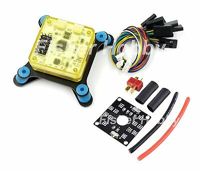 CC3D EVO flight controller with Shock Absorber + Power Distribution Board T-plug