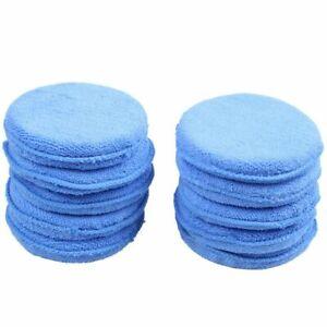 10x-Auto-Cera-Lucidante-Schiuma-applicatore-in-spugna-in-microfibra-pulizia-pastiglie-BT