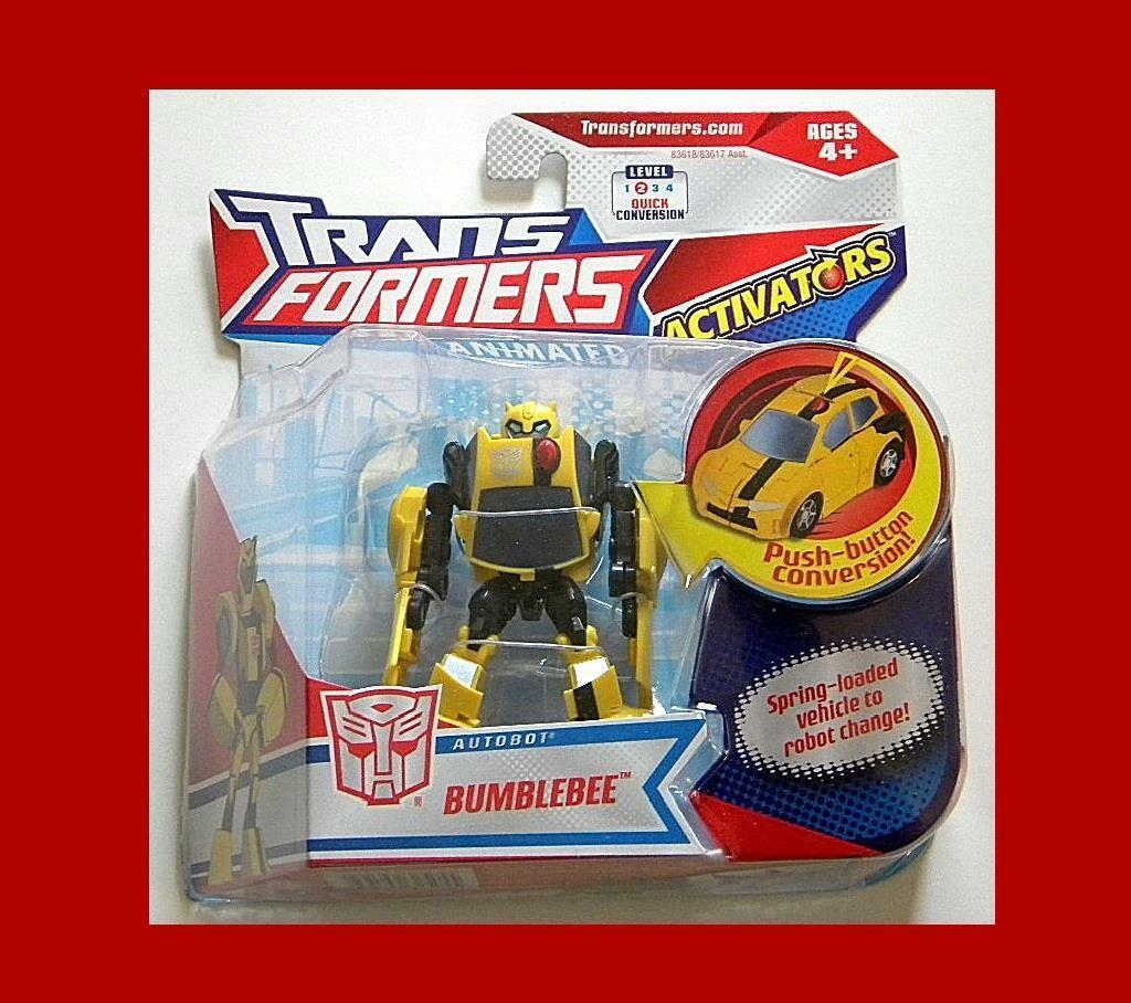 TRANSFORMERS ANIMATED ACTIVATORS AUTOBOT BUMBLEBEE MOC FROM HASBRO NEW MOVIE