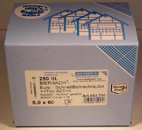 250 lots premium panneaux de particules vis en acier inoxydable de foret torx Made in Germany