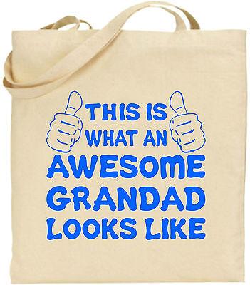 Toll Opa Groß Baumwolltasche Einkaufstasche Leinen Großeltern Vater Lustig