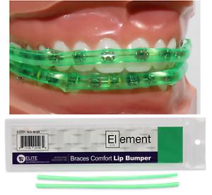 GREEN ELEMENT BRACES COMFORT LIP BUMPER MOUTH GUARD FOR BRACES ORTHODONTIC