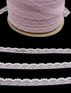 Lace-Vintage-Half-Inch-Narrow-Trim-10-yards-Sewing-Doll-Crafts-PINK-Lot-74