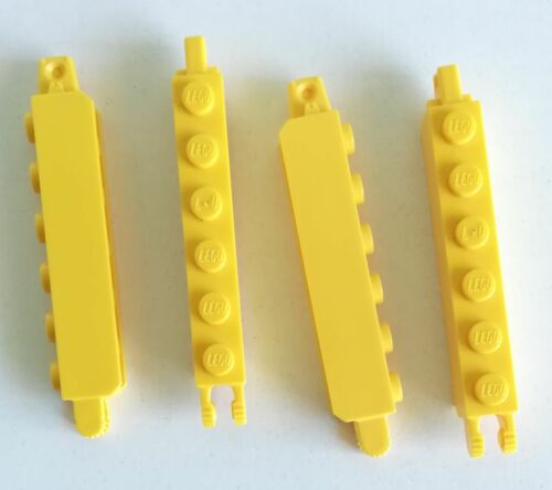 Lego 4x Brick Zip Double Vertical 1x6 Yellow 30388 Lot