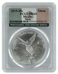 2015-Mexico-1oz-Silver-Onza-Libertad-PCGS-MS69-Flag-Label
