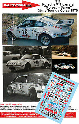DECALS 1//43 REF 819 PORSCHE 911 THERIER TOUR DE CORSE 1981 RALLYE RALLY WRC