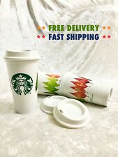 Recyclable Hot Grande Cup Starbucks Autumn Fall Leaves Coffee Reusable 16 oz