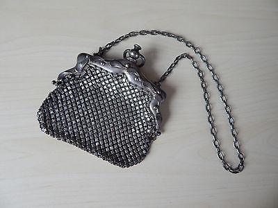 """Diplomatisch Antike Kl Tasche """"german Silver Mesh"""" Gr. Ca. 12 X 12 Cm Handtasche, Abendtasche Modern Und Elegant In Mode"""