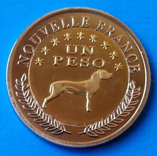 Araucania /& Patagonia 1 peso 2013 UNC Dog Bi-metallic bimetal unusual coinage
