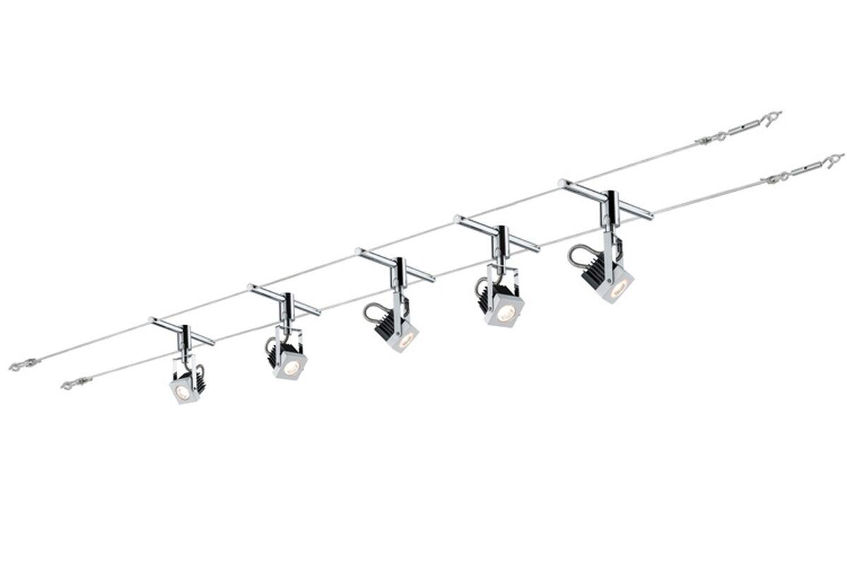 Paulmann Seilsystem - Wire System Mezzo - 5x5W Weiß 230 12V NEU