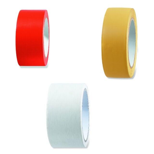 1-60 Rollen UV PVC Putzerband Klebeband 30mm, 50mm x 33m weiß gelb glatt gerillt