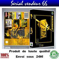 """Boitier, boite """"ZELDA OCARINA OF TIME"""", nintendo 64, visuel PAL français. HD."""