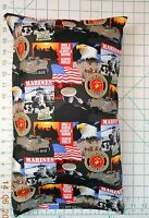 Usa Military Marines Small Pillow Case & 1 White Travel Pillow