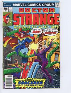 Dr. Strange #21 Marvel Pub 1977 the Coming of ... Dr.Strange, Origin issue !
