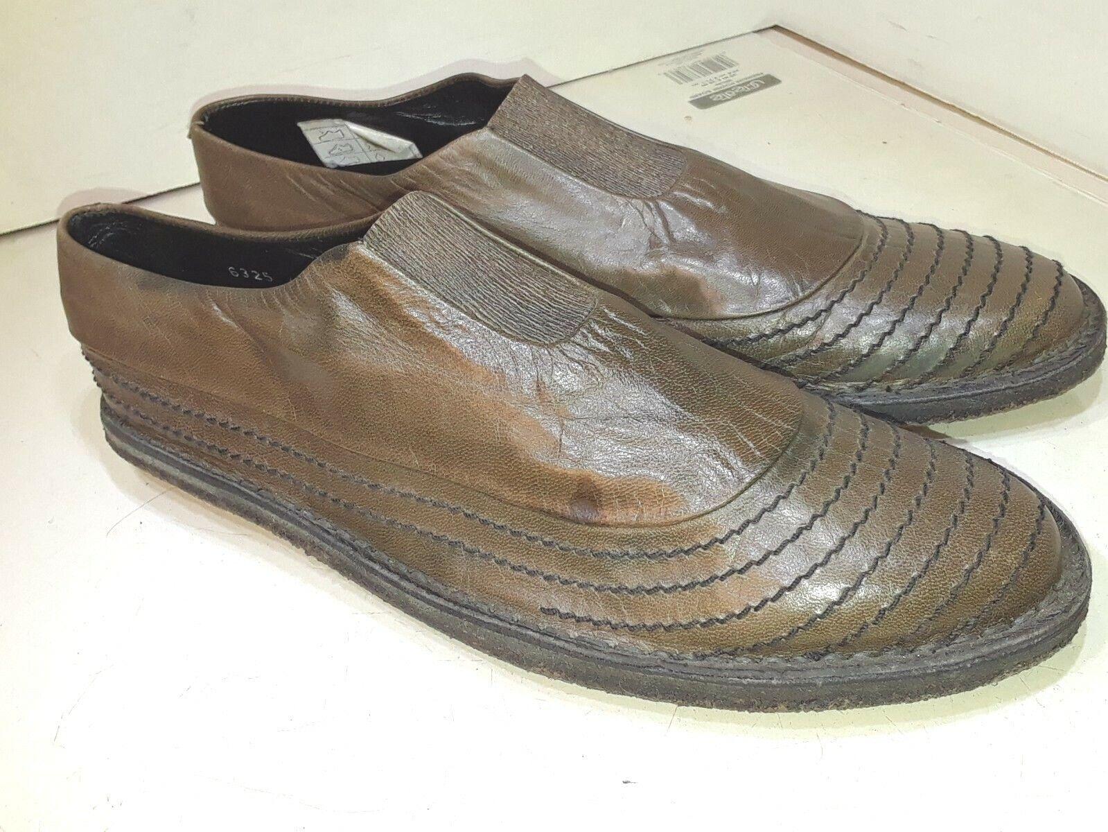 spedizione gratuita Rocco P Marrone Marrone Marrone Leather Casual Loafers Slip On Elastic Front donna Dimensione 40  più preferenziale
