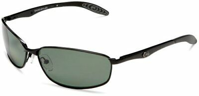 Gargoyles Traction Polarized Ballistic Sunglasses Green Lens Black Frame