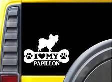 Papillon Bone Sticker L064 8 inch dog decal