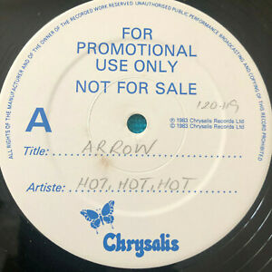 Arrow-Hot-Hot-Hot-1983-UK-Vinyl-12-034-Promo-ARROX1-NMINT-UNPLAYED