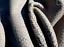 thumbnail 4 - lambskin leather hide skin Extra Large Smoke Grey Baby Dragon Scale Embossed