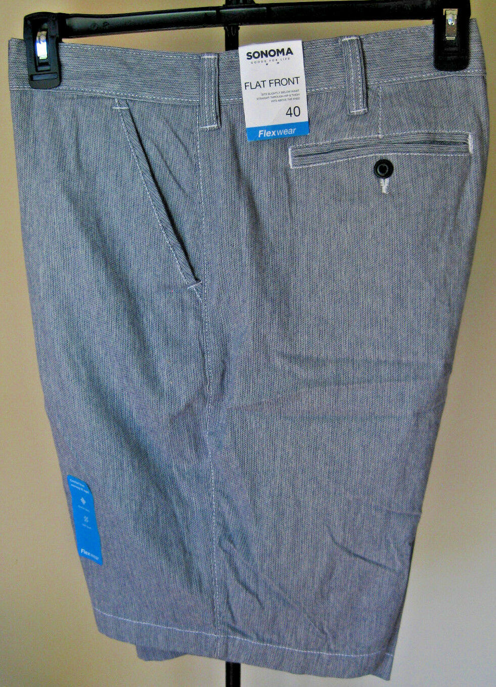 b59282233cbf NWT Men s SONOMA Flexwear Shorts 40W Light bluee Stretch Fabric Lightweight  New