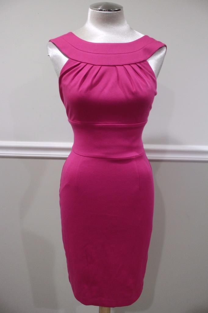 248 NWT TRINA TURK Women's Fuchsia Etiquette' Stretch Sheath Dress Size 2 (900