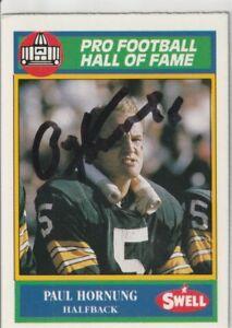 Paul-Hornung-Autograph-1990-Swell-Football-Card