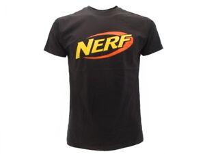 T-shirt-Originale-Nerf-Maglia-Maglietta-adulto-e-bambino-ufficiale-Logo-Nera