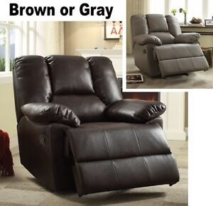 Fabulous Details About Large Brown Or Gray Leather Oversized Power Glider Recliner Recliners Armchairs Alphanode Cool Chair Designs And Ideas Alphanodeonline