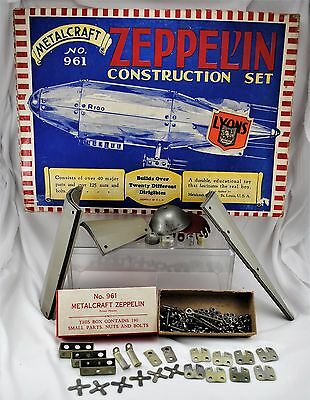 VTG 20s / 30s Metalcraft No. 961 Zeppelin Construction Set w/ Orig Box RARE