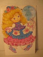 Vintage Victorian Walking Paper Doll Birthday Greeting Card, American Greetings