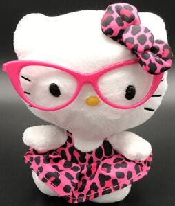 "TY BEANIE BABIES HELLO KITTY Nerd  Rainbow Leopard Dress  6/"" Plush Toy"