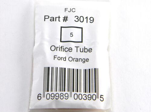 PACK OF 5 NEW FJC 3019 ORIFICE TUBES FORD ORANGE