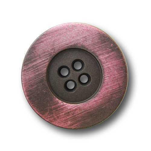 5475ro 5 moderne eisenfarbene vierloch Métal Boutons avec rosa lueur