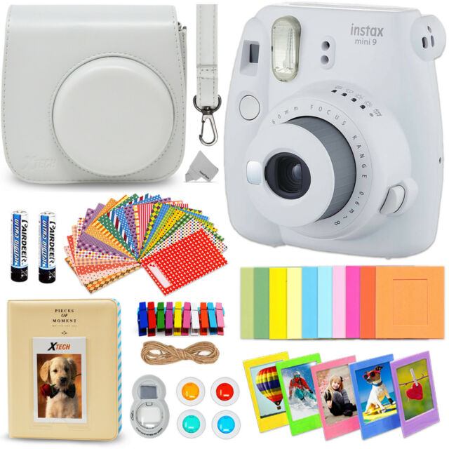 Fujifilm Instax Mini 9 Instant Polaroid Camera Accessories Kit Set Smokey  White fadcbefab9