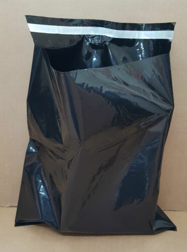 "Black Mailing Bags Plastic Poly Postage Post Packing Strong Self Seal 18/"" x 22/"""