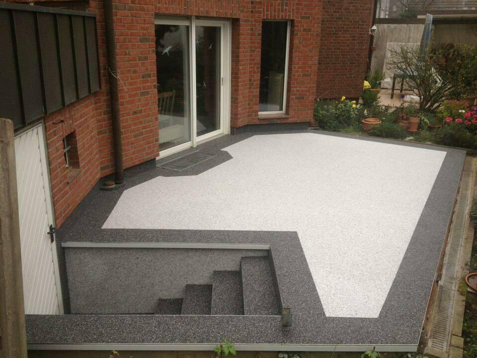 Steinteppich Balkon,Terrasse,Treppe  2-2,5 m² + M200-Bindemittel  ALLE Farben