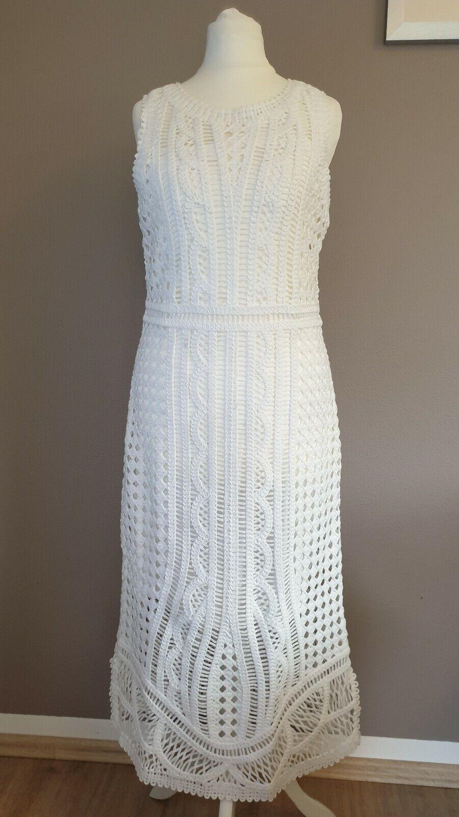 Massimo Dutti dress Kleid Weiß Größe S Größe S