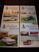 """Vintage AUTO MAGAZINES c1997 """"The PLYMOUTH BULLETIN"""" 4 in all"""